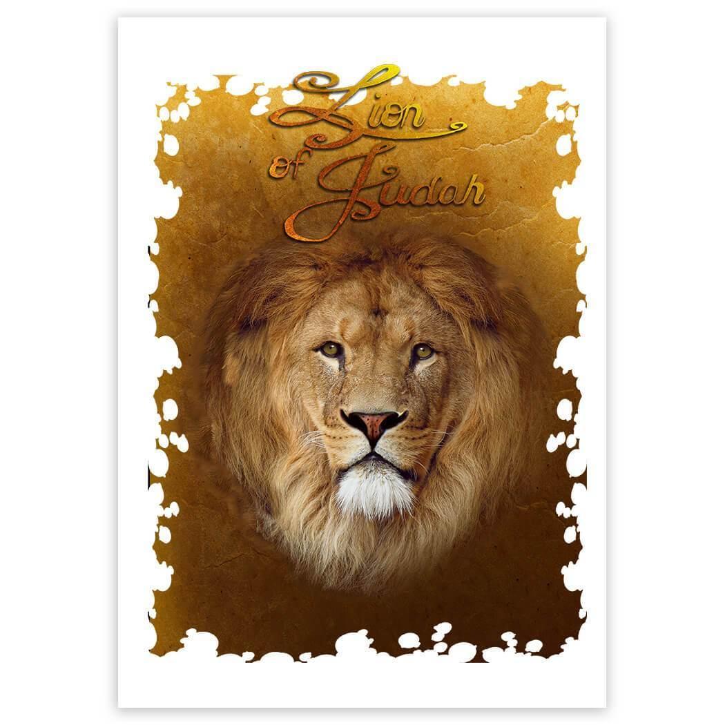 Lion of Judah : Gift Sticker Christian Religious Jesus God Faith