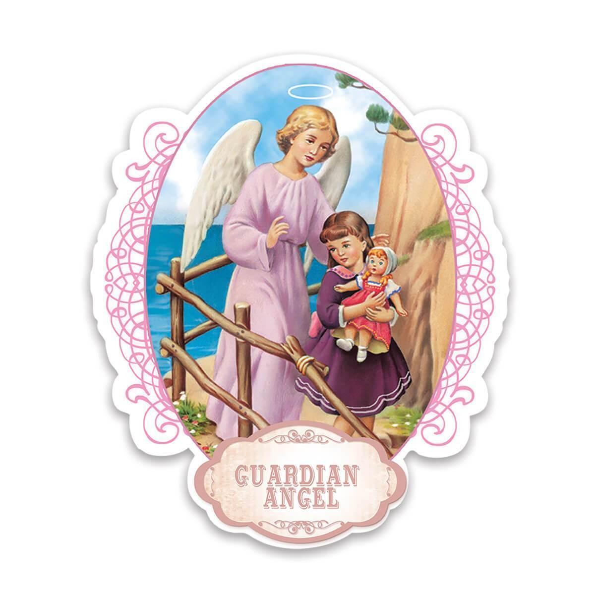 Guardian Angel : Gift Sticker Catholic Religious Saint Girl Kids