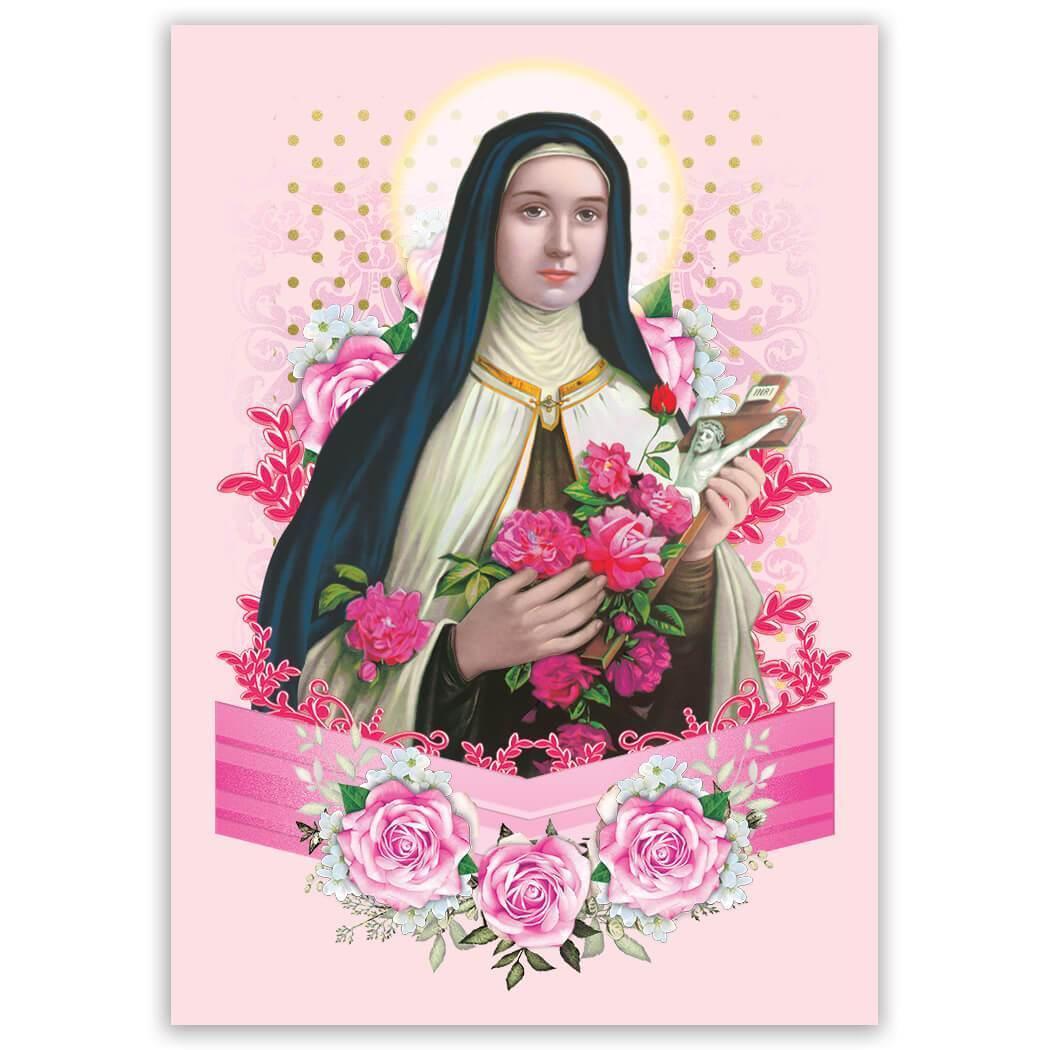 Saint Thereze of Liseux : Gift Sticker Catholic Religious Religion Classic Faith