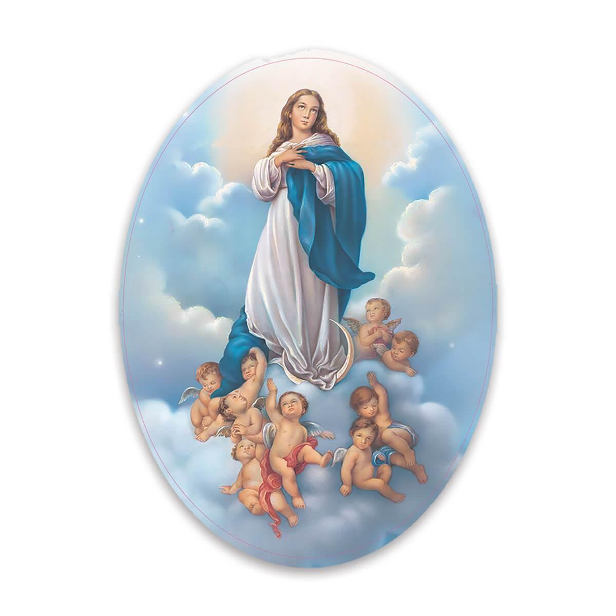 Our Lady of Immaculate Conception : Gift Sticker Catholic Virgin Saint Mary