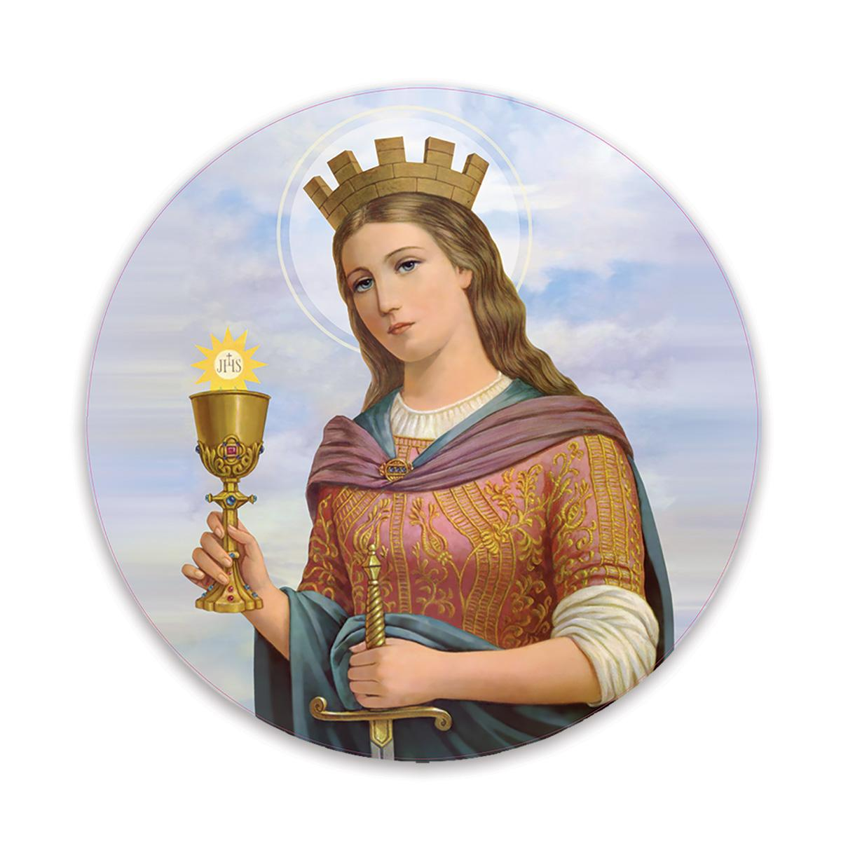 Saint Barbara : Gift Sticker Catholic Religious Virgin Saint