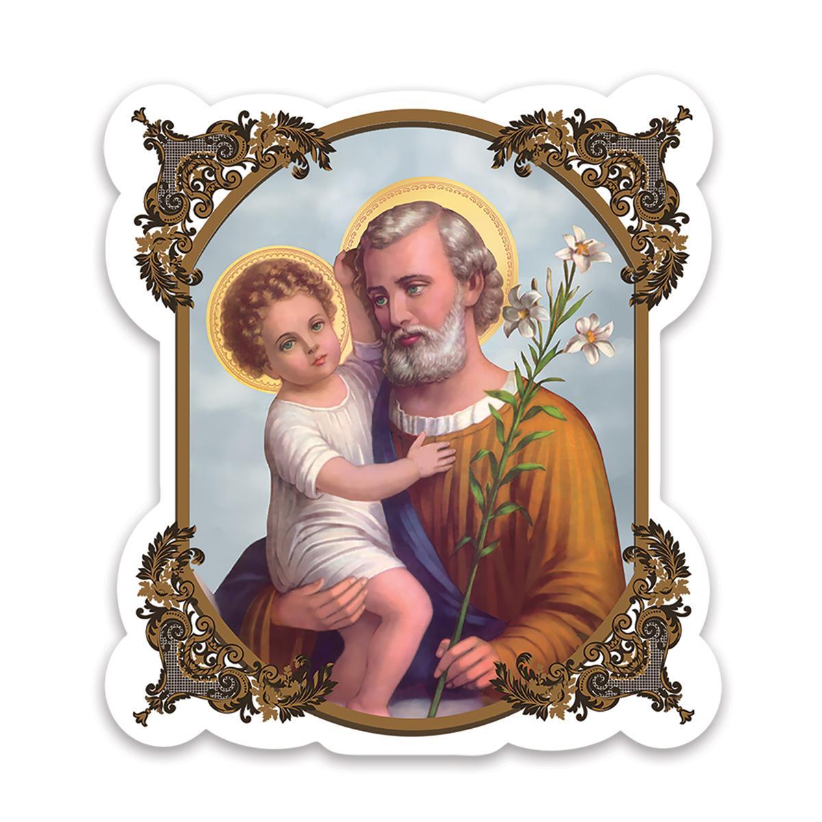 Saint Joseph : Gift Sticker Catholic Religious Holy Family