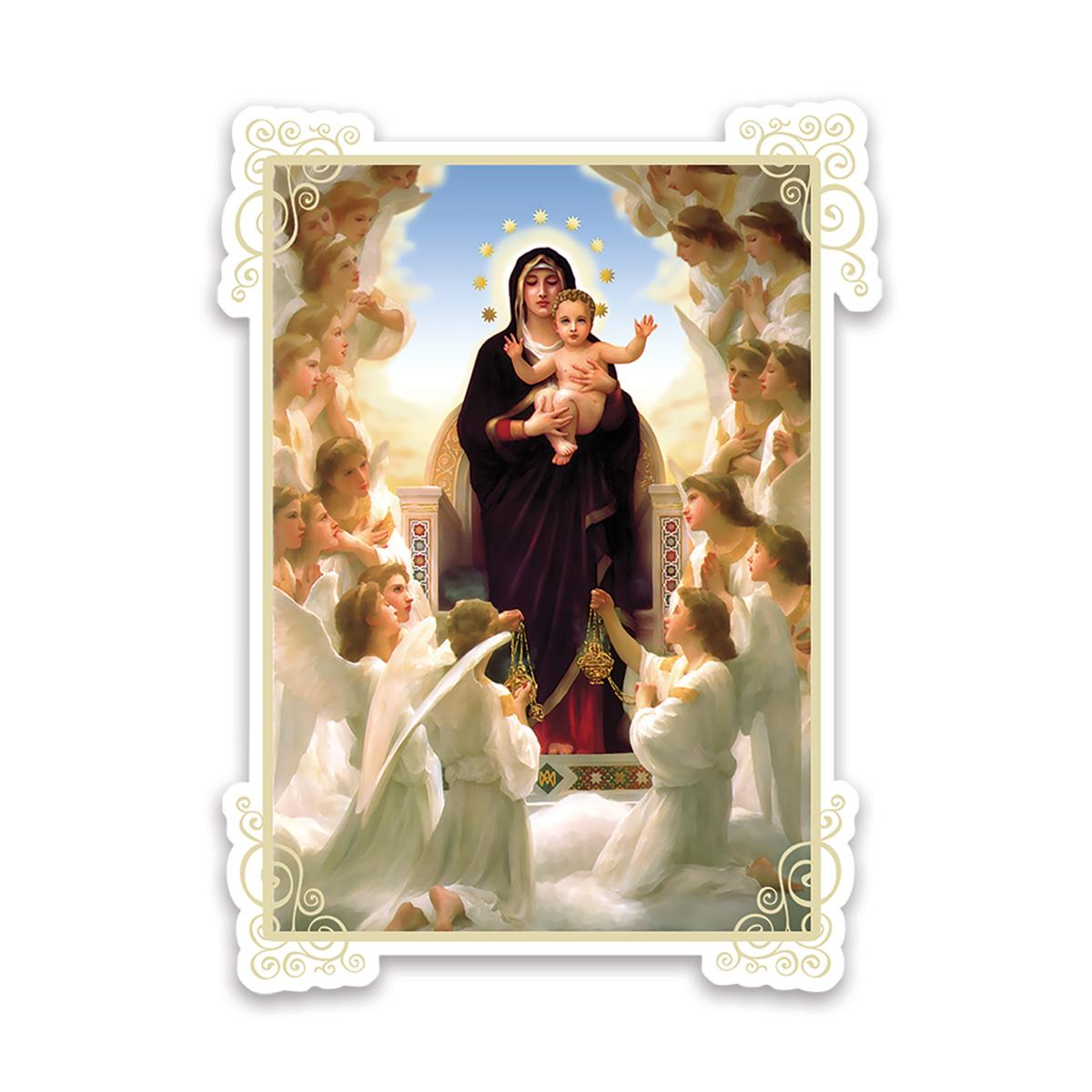 Our Lady of the Angels : Gift Sticker Catholic Religious Virgin Mary