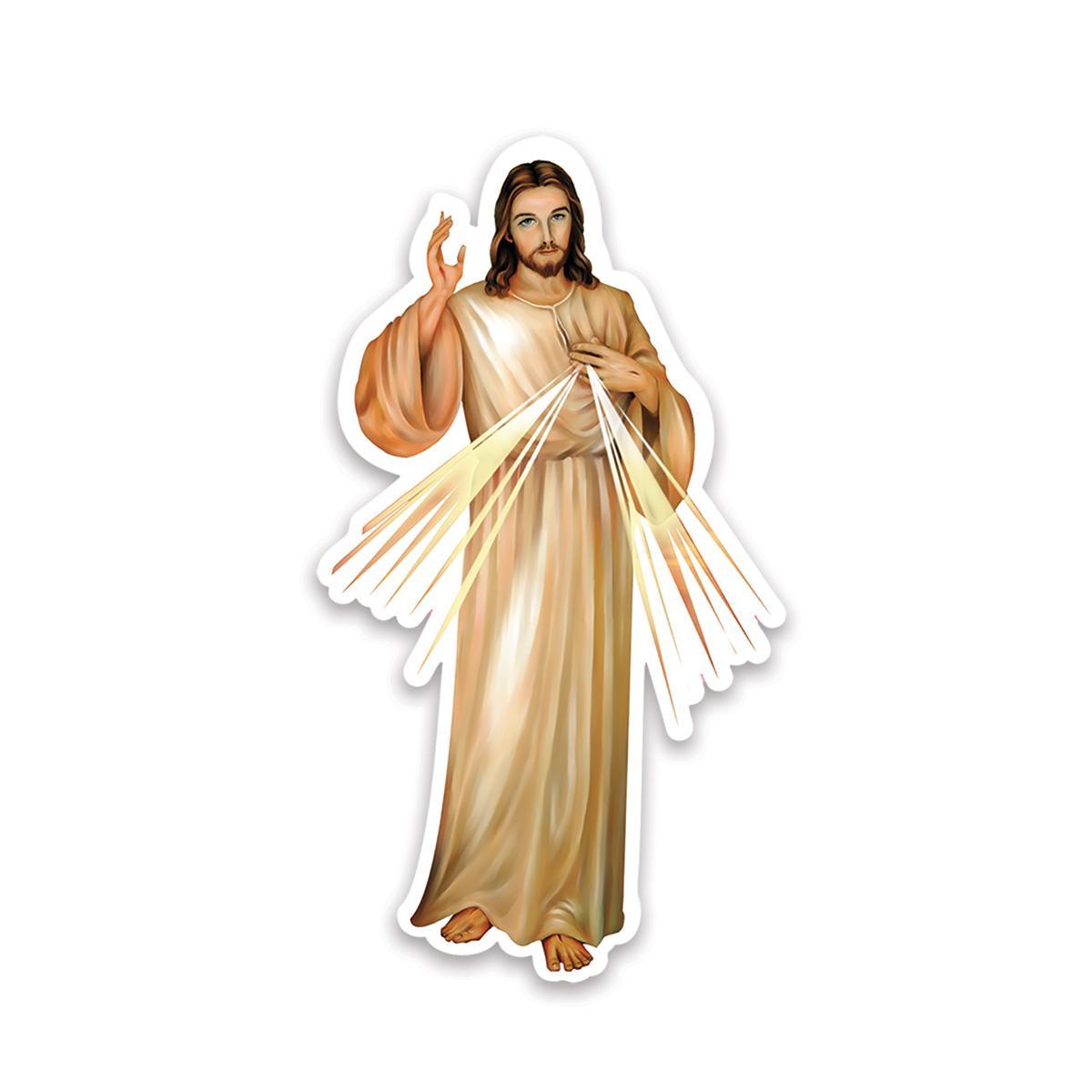 Merciful Jesus : Gift Sticker Catholic Religious Divine Mercy Christ