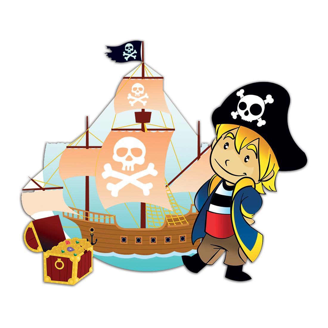 Pirate : Gift Sticker for Kids Children Birthday Christmas Party