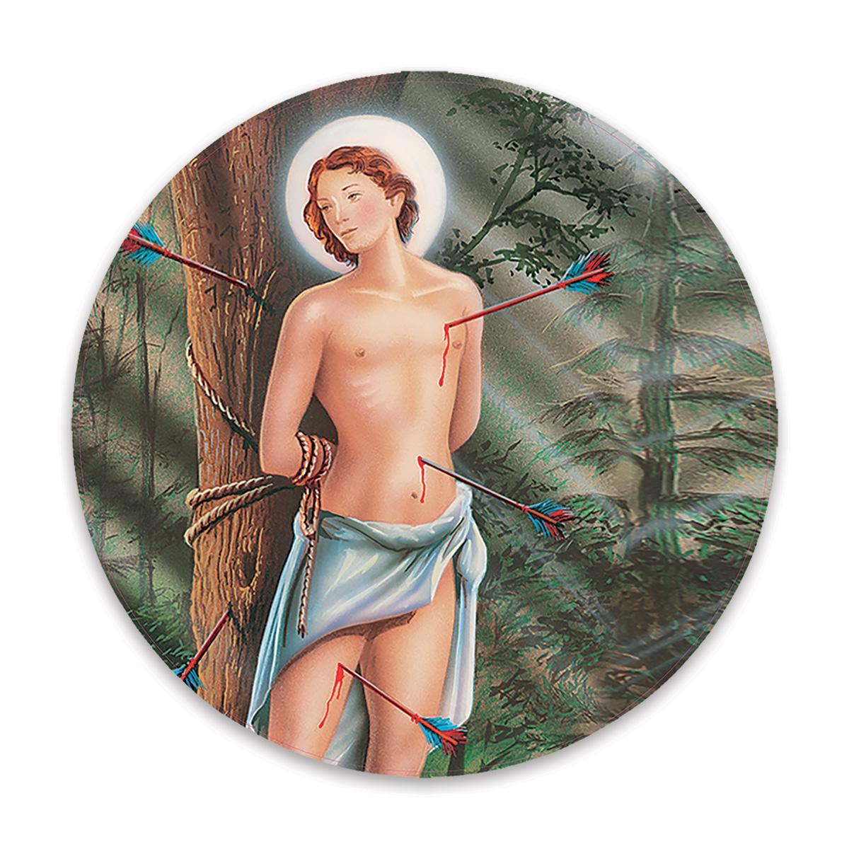 Saint Sebastian : Gift Sticker Catholic Religious Religion Classic Faith