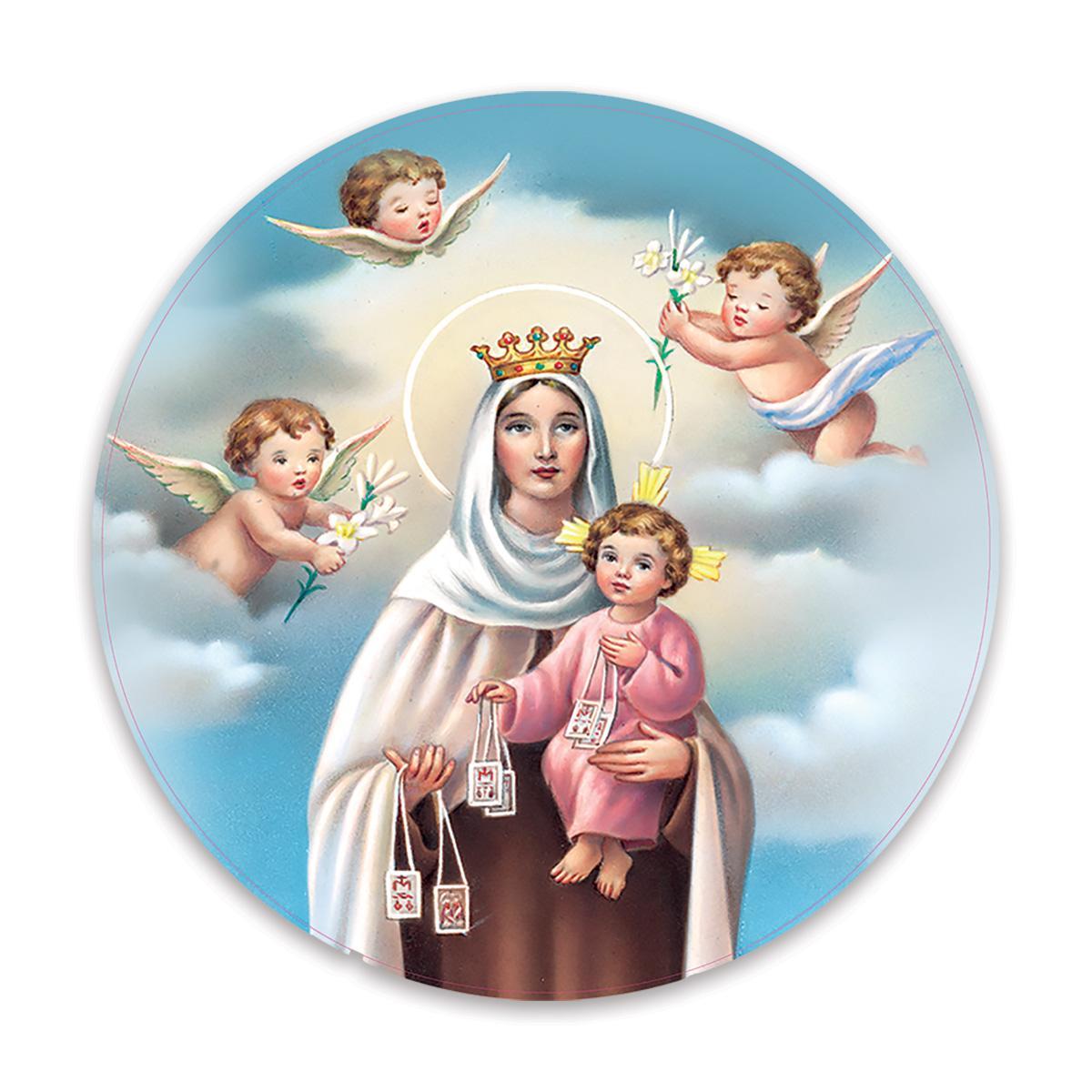 Our Lady of Mount Carmel : Gift Sticker Catholic Religious Virgin Saint Mary