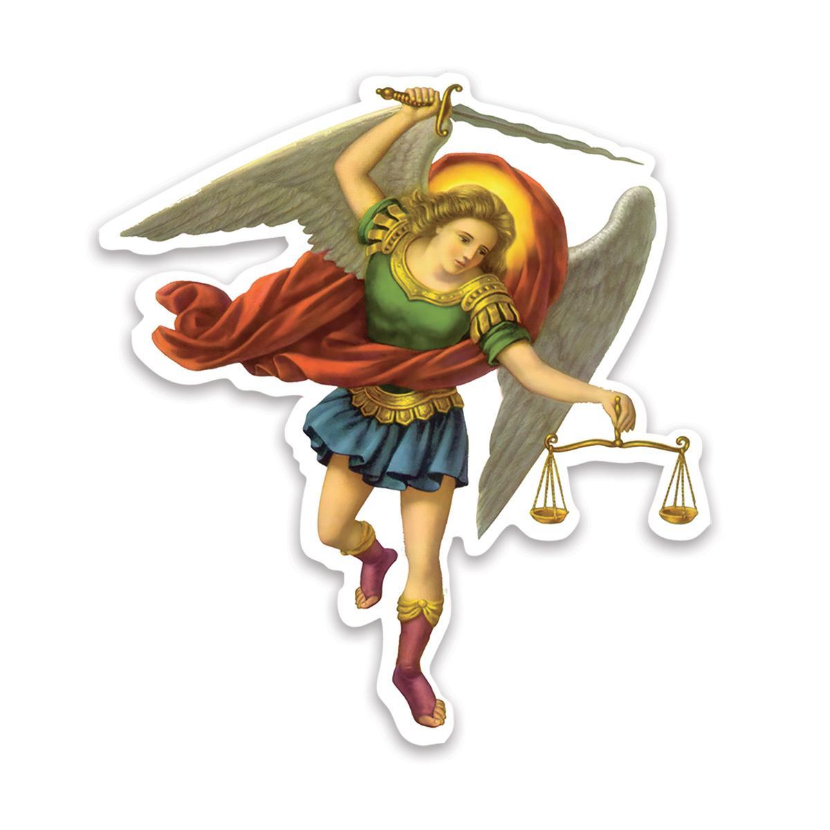 St Michael The Archangel : Gift Sticker Angel Catholic Religious Saint