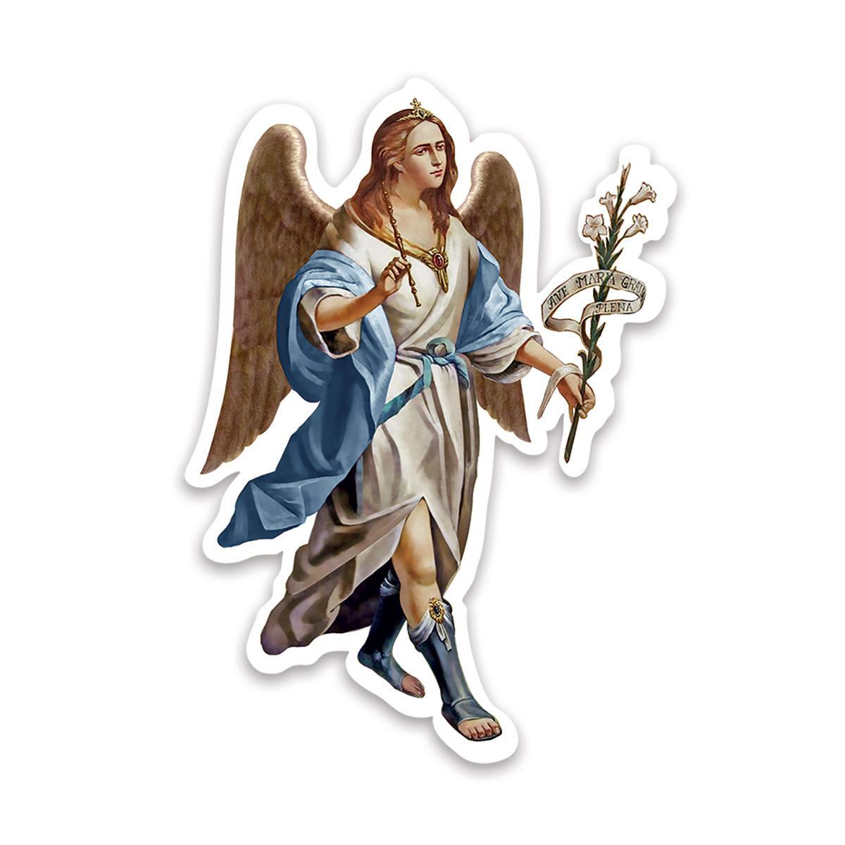 Saint Gabriel The Archangel : Gift Sticker Catholic Angel Religious