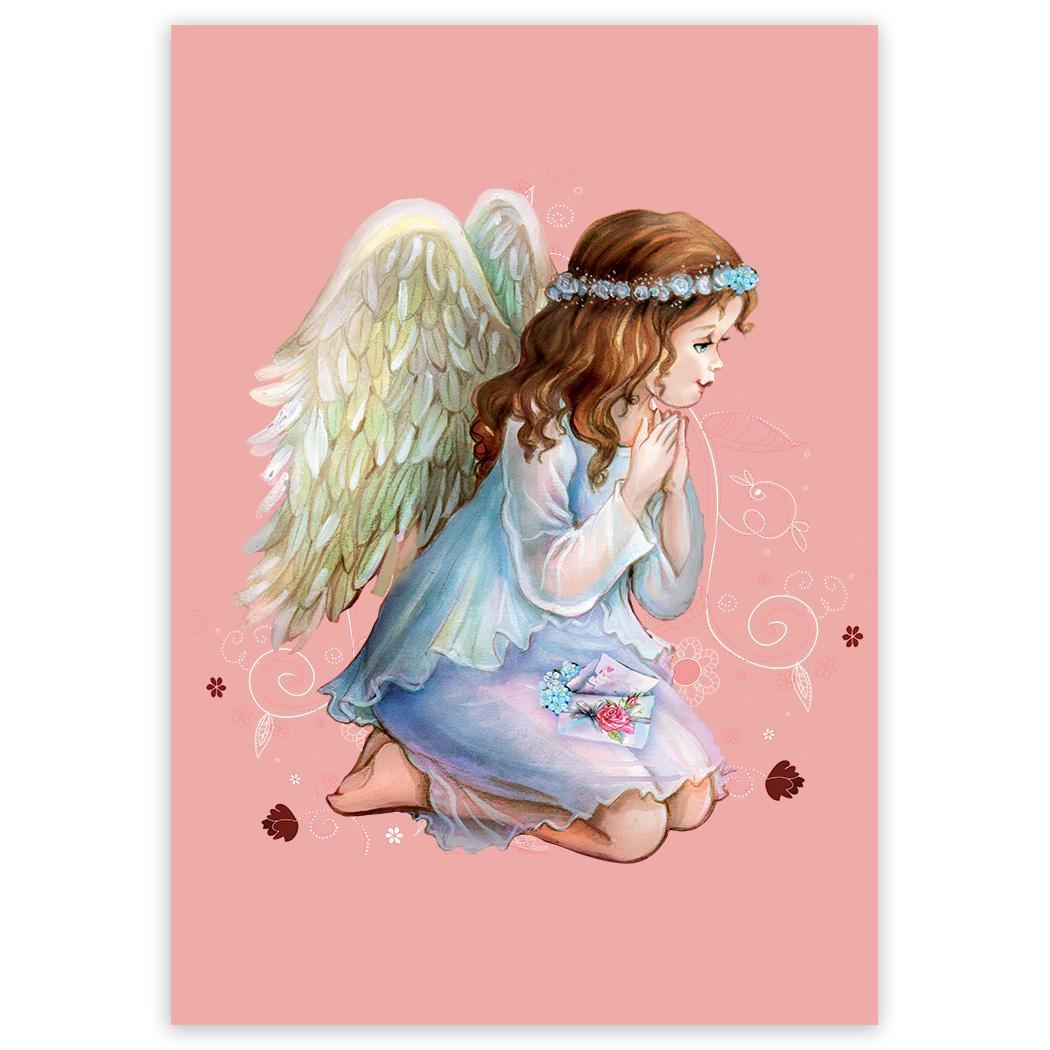 Angel Praying : Gift Sticker Catholic Religious Esoteric Victorian