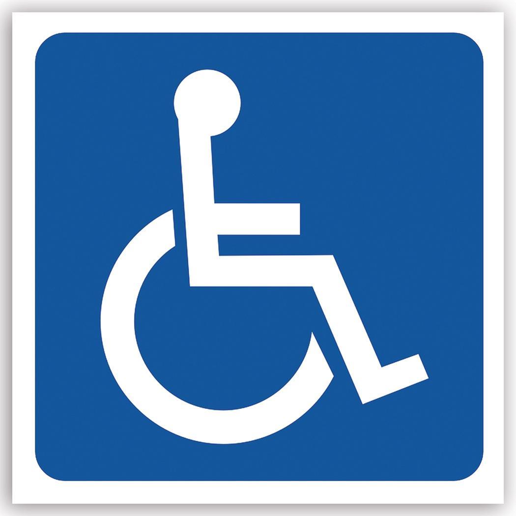 Disabled Handicap : Gift Sticker Deficiente Disabilities Handicapped