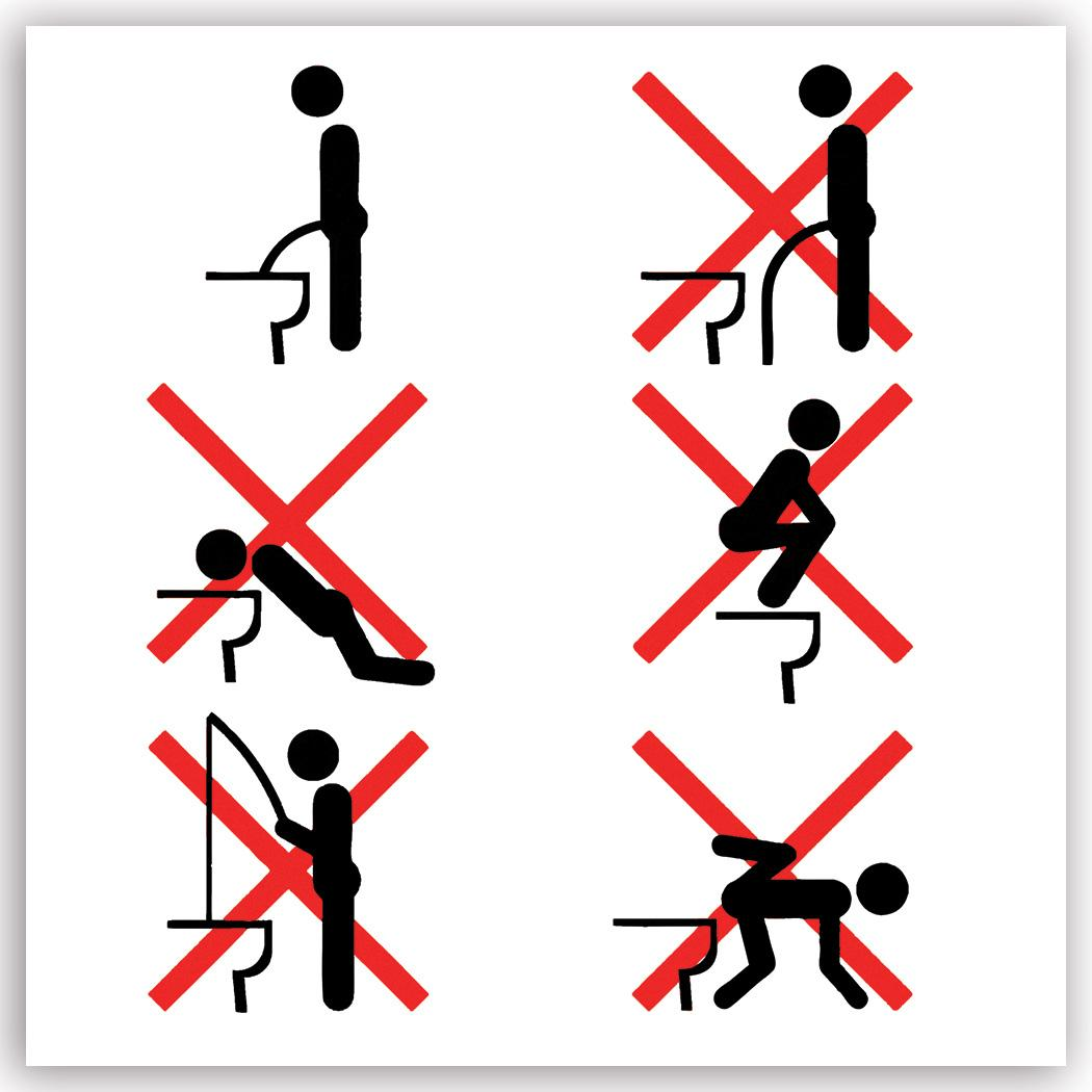 How To Piss Male Restroom : Gift Sticker Funny Correct Way Sarcastic