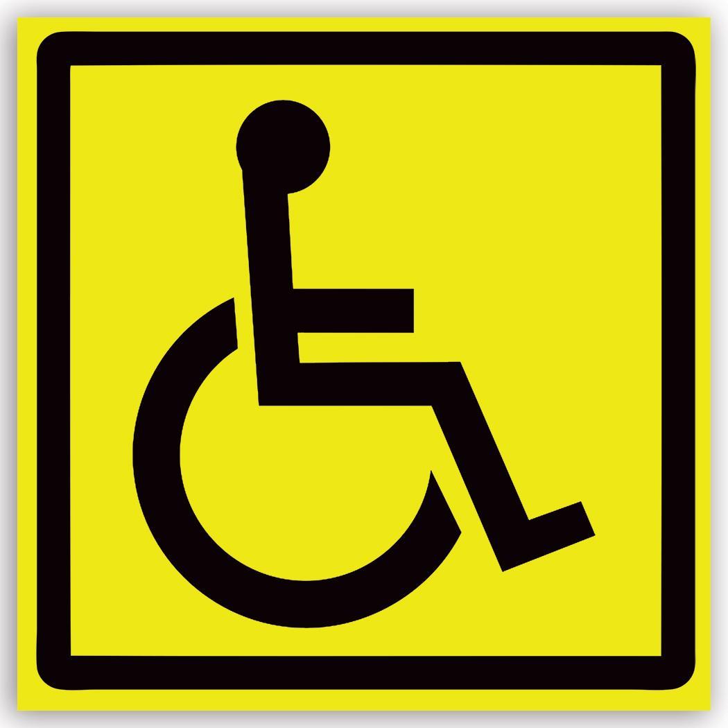 Handicap : Gift Sticker Deficiente Placard Sign Signage Special Needs