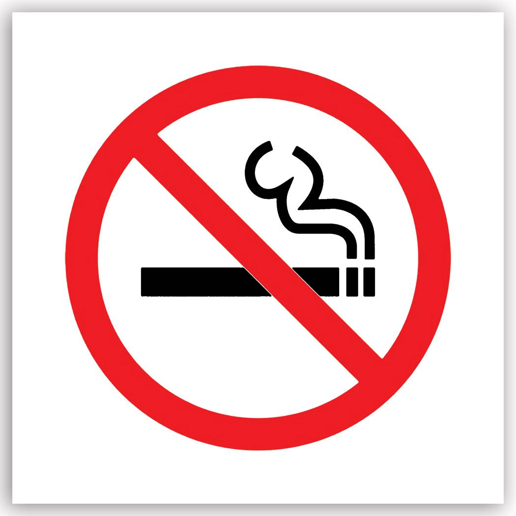 No Smoking : Gift Sticker Placard Sign Signage Cigarrete Zone