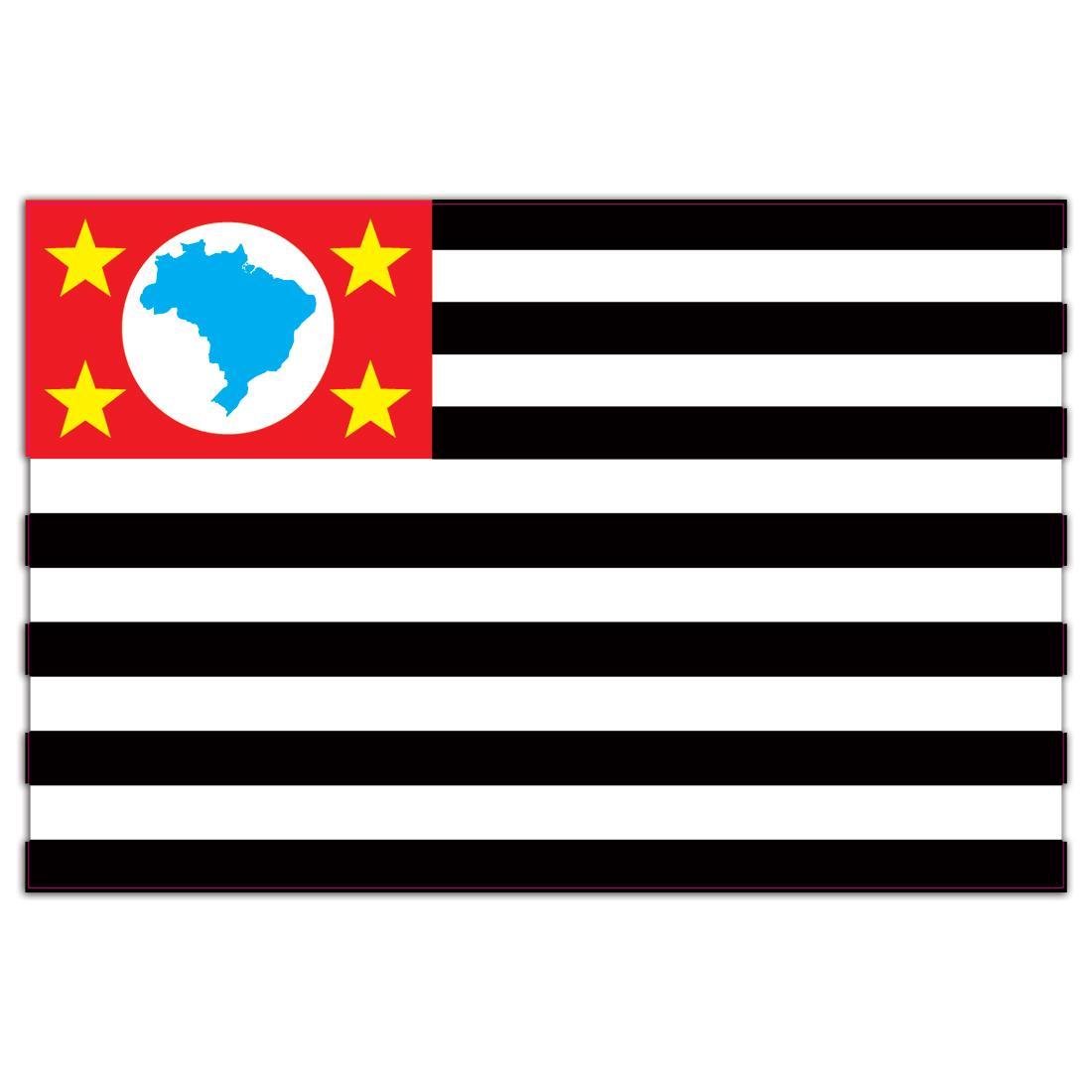Sao Paulo : Gift Sticker Brazil Flag Country State Brasil Estado