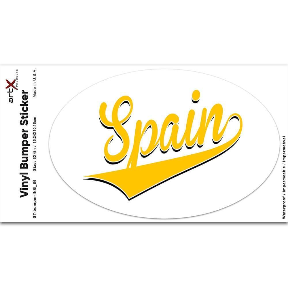 Spain : Gift Sticker Flag Varsity Script Baseball Beisbol Country Pride Spanish
