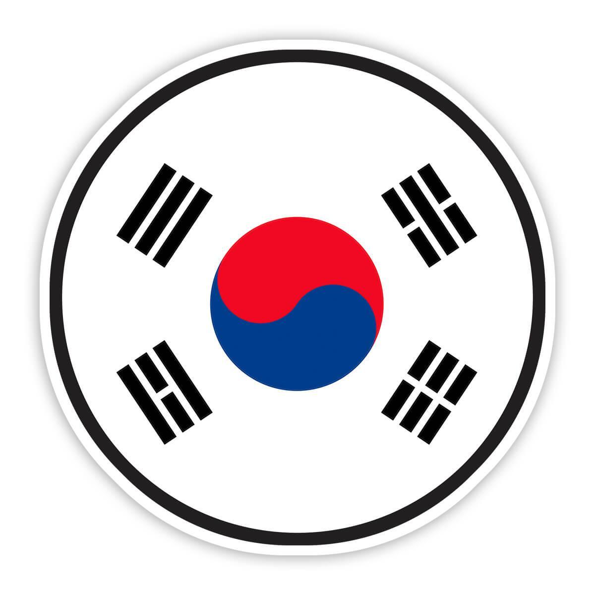 South Korea : Gift Sticker Flag Never Underestimate The Power Korean Expat Country