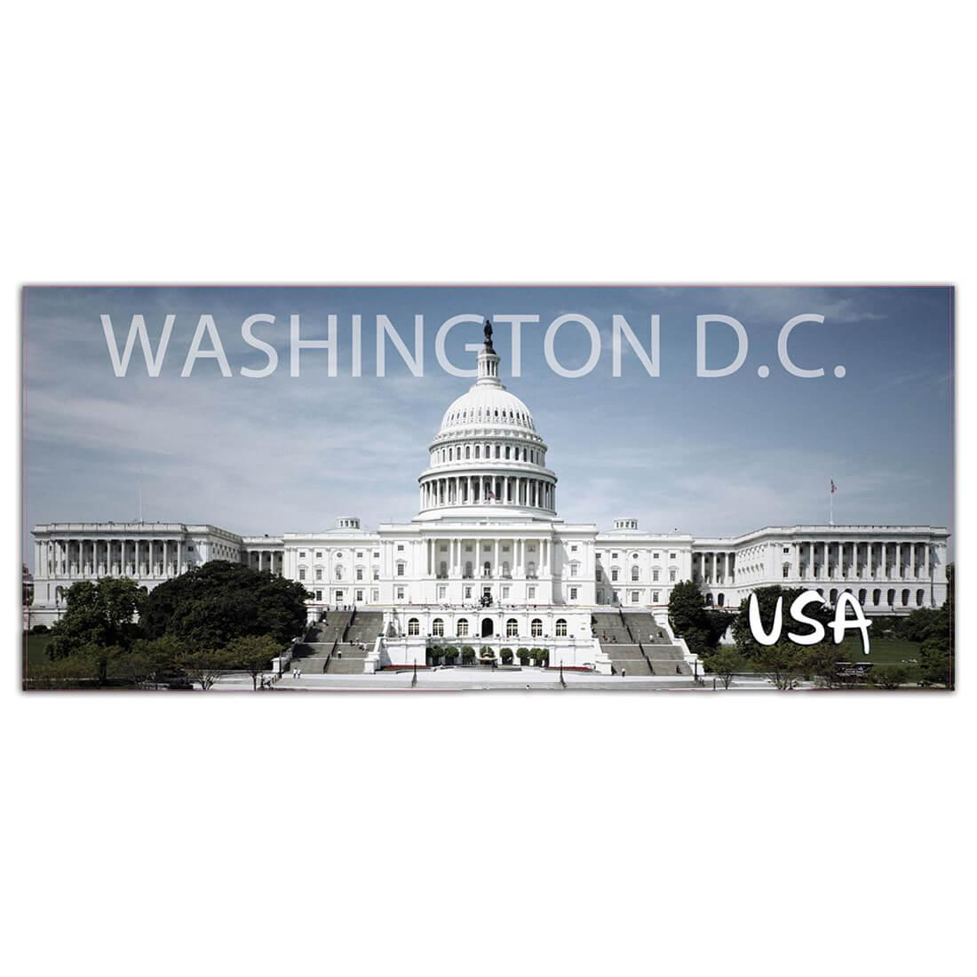 USA Washington DC : Gift Sticker Capitol State Flag American Country Souvenir
