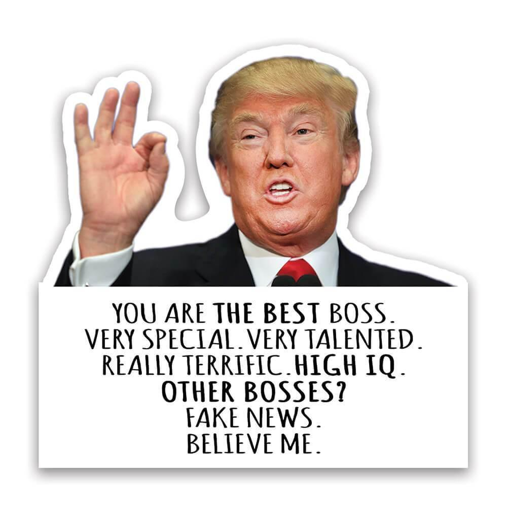 BOSS Funny Trump : Gift Sticker Best BOSS Birthday Christmas Gift Jobs