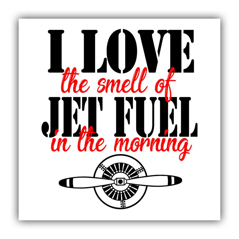 Pilot : Gift Sticker I Love The Smell Of Jet Fuel in The Morning Christmas