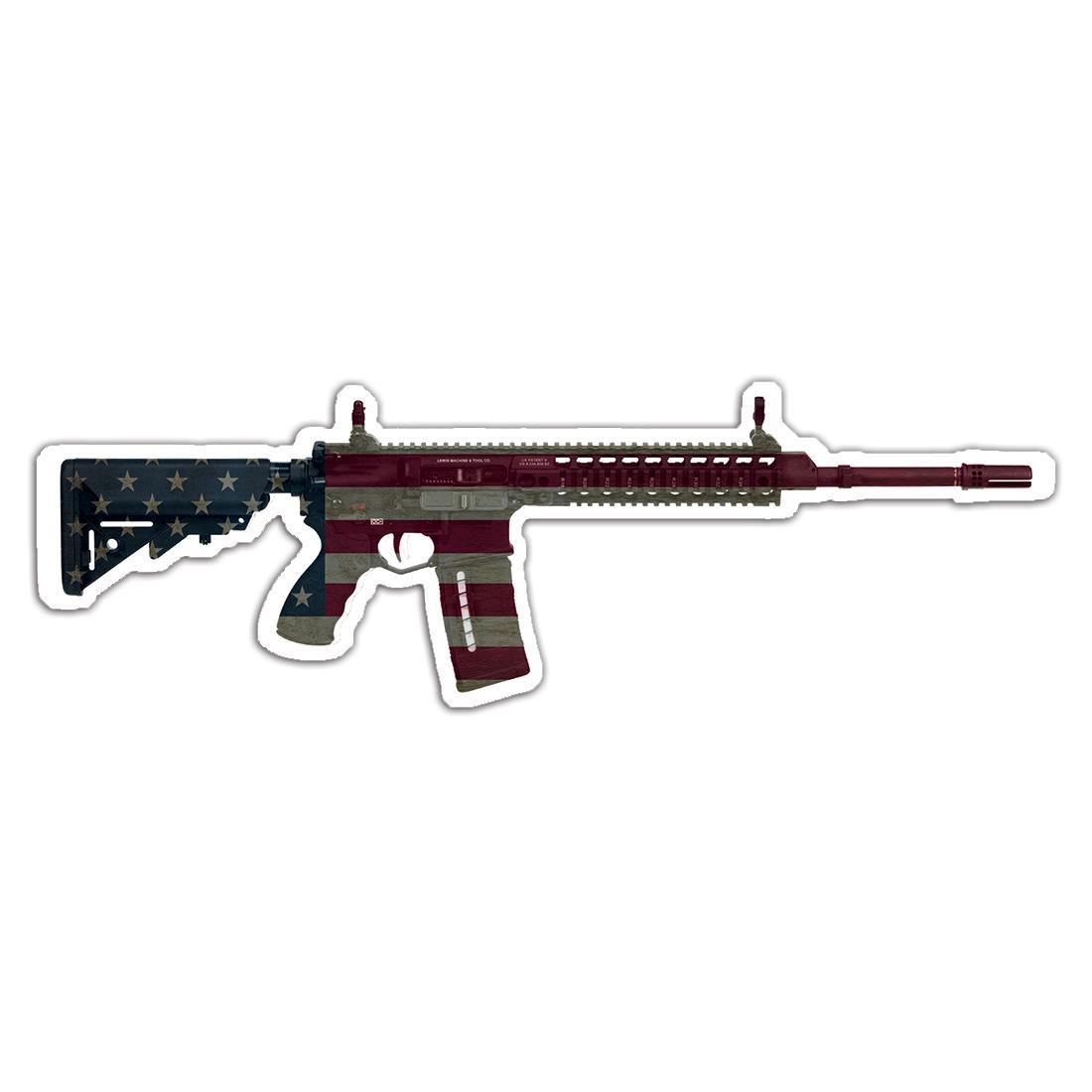 Rifle American Flag : Gift Sticker 2nd Amendment United States NRA AR15