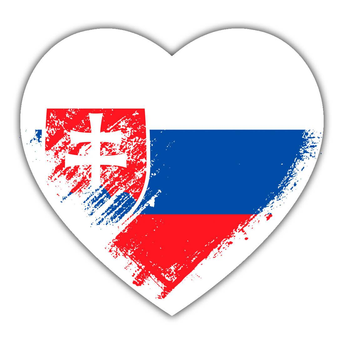Slovak Heart : Gift Sticker Slovakia Country Expat Flag Patriotic Flags National