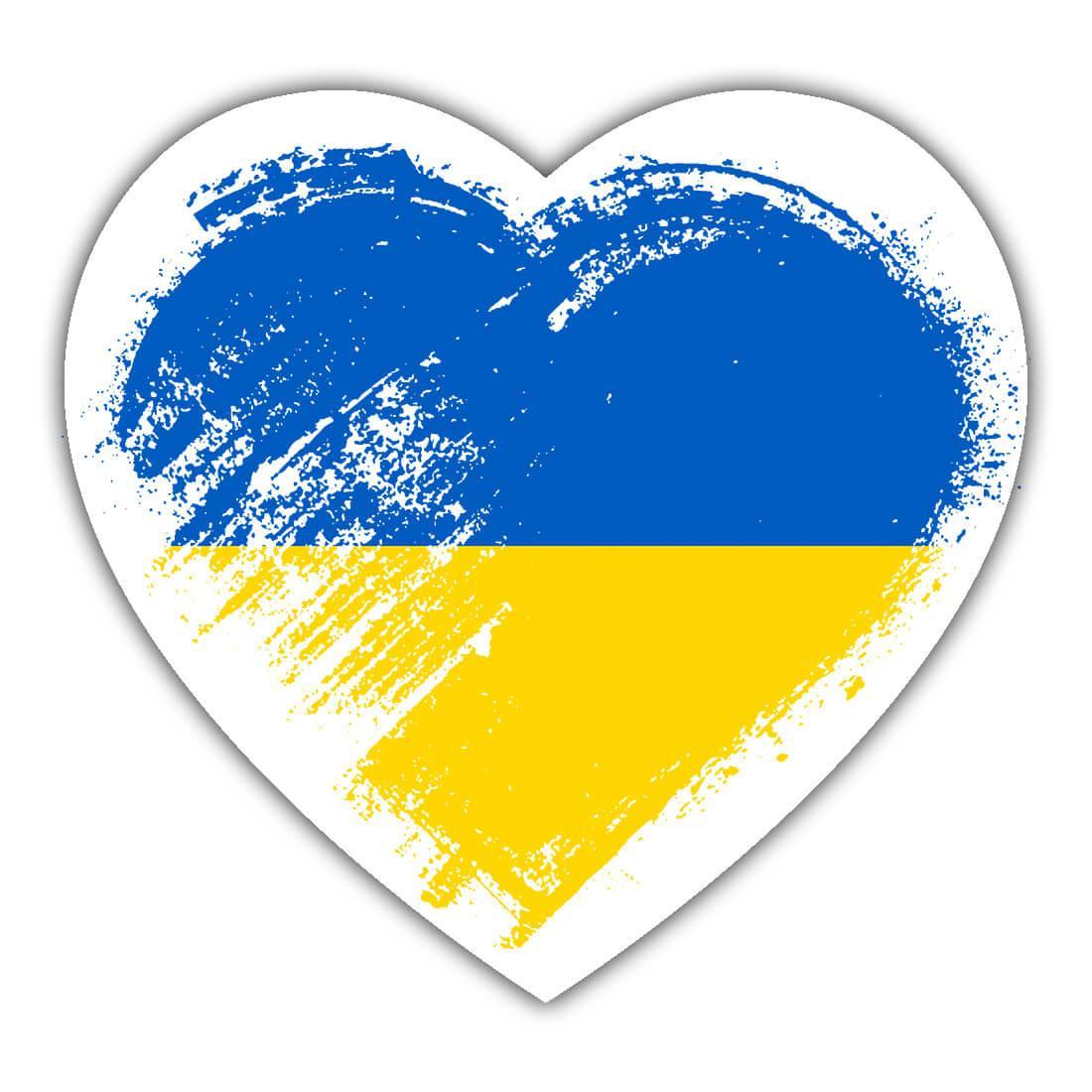 Ukrainian Heart : Gift Sticker Ukraine Country Expat Flag Patriotic Flags National