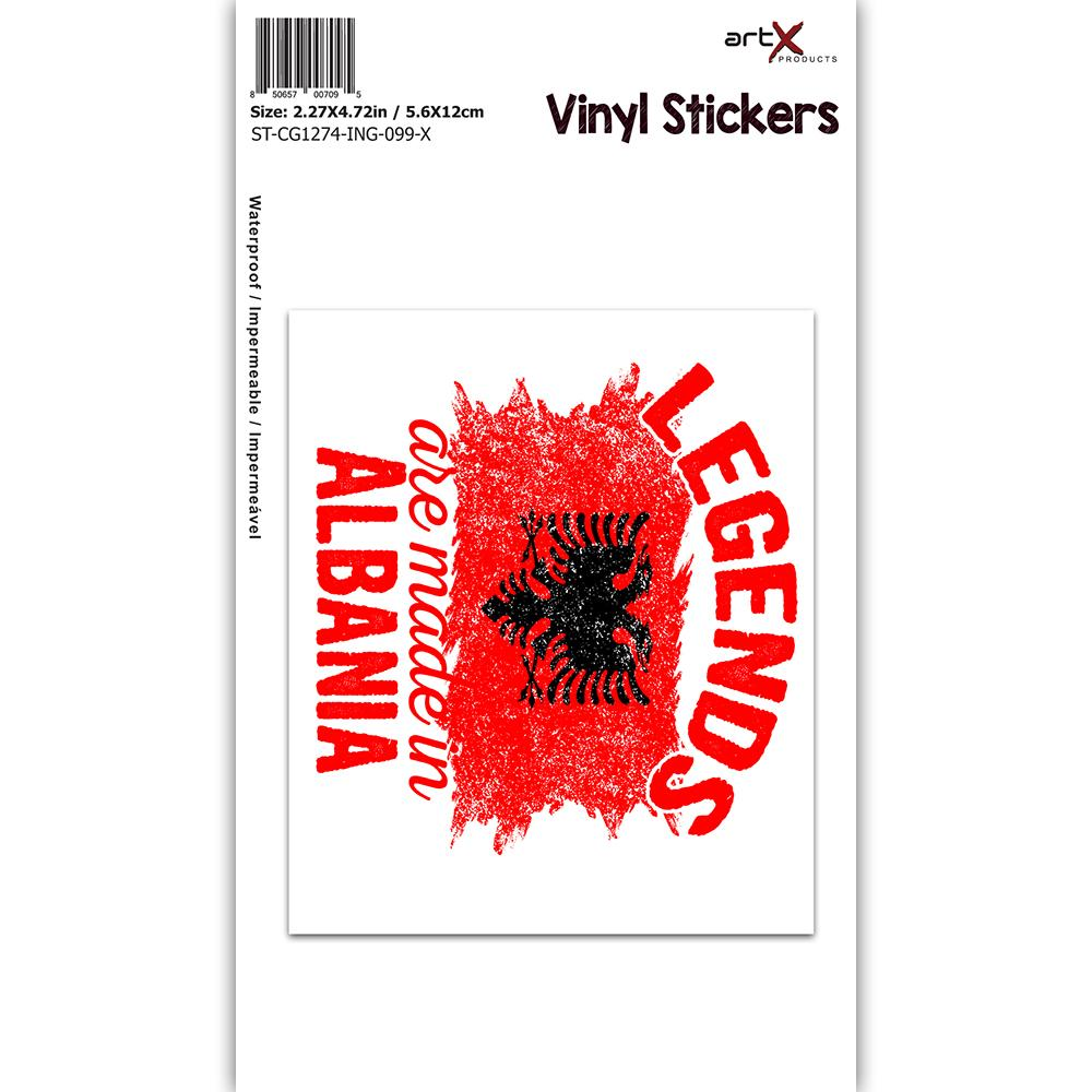 Legends are Made in Albania : Gift Sticker Flag Albanian Expat Country