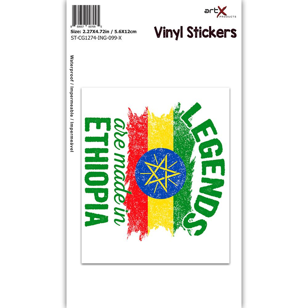 Legends are Made in Ethiopia : Gift Sticker Flag Ethiopian Expat Country