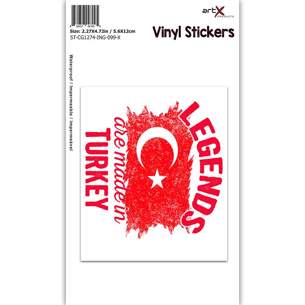 Legends are Made in Turkey : Gift Sticker Flag Turkish Expat Country