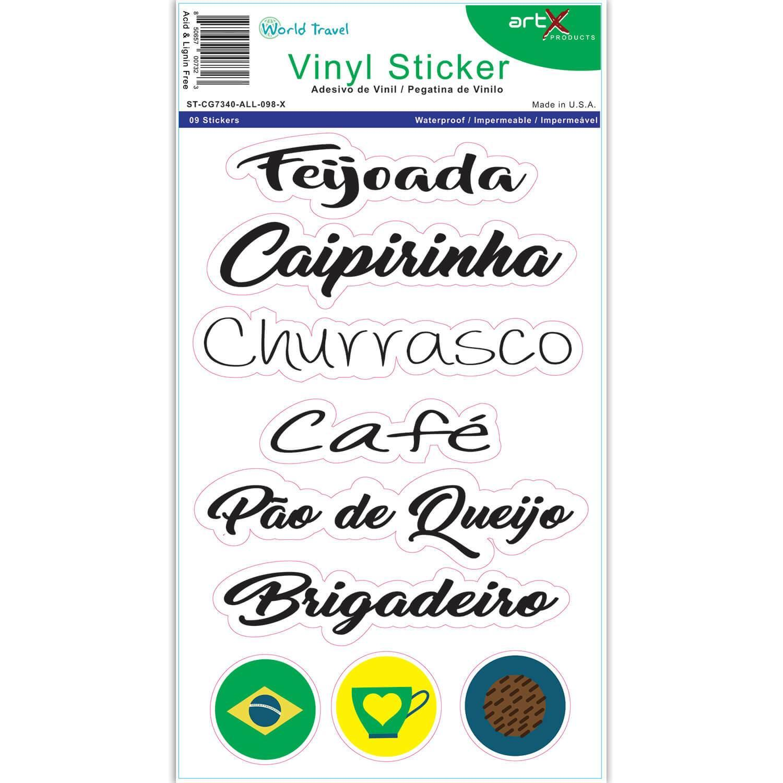 Comidas Tipicas Brasil : Brazil Portuguese Foods Sticker Sheet Adesivo Caipirinha