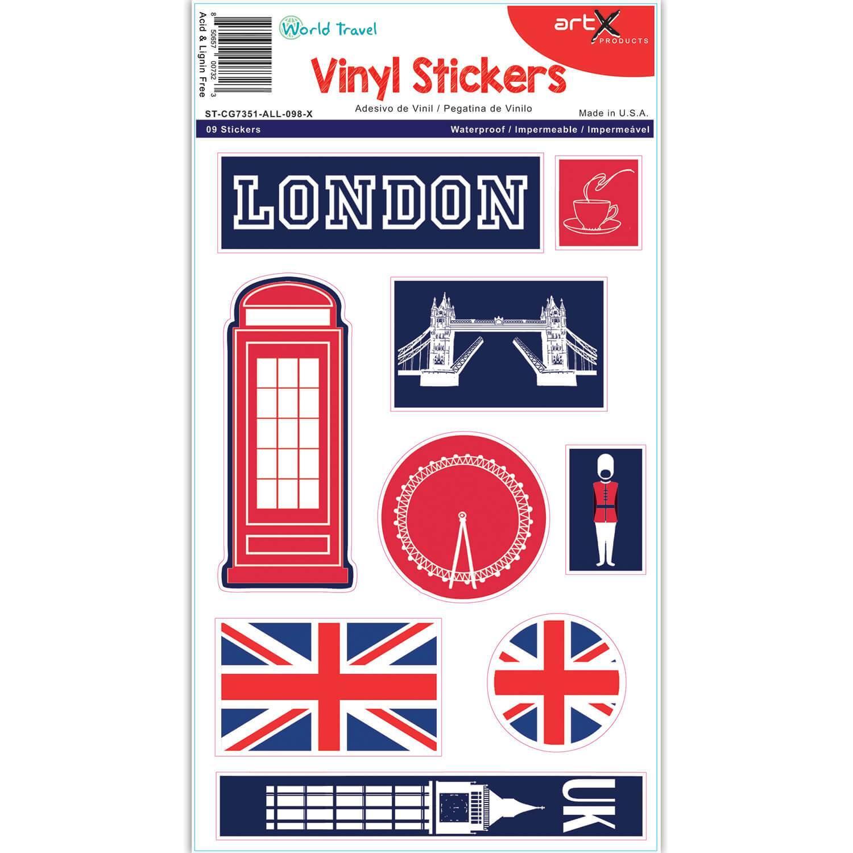 London Landmarks : Phone Booth Sticker Sheet Planner Scrapbook Vinyl