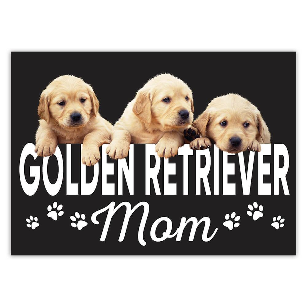 Golden Retriever Mom : Gift Sticker Dog Puppy Animal Cute Christmas Birthday