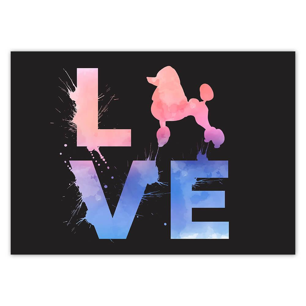 Love Poodle Sillhouette : Gift Sticker Dog Animal Pet