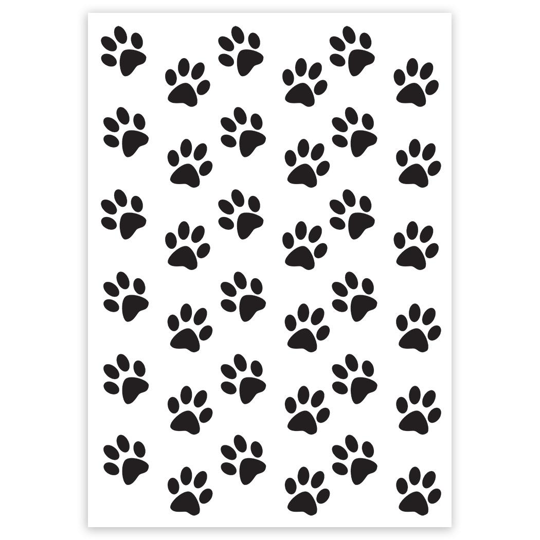Dog : Gift Sticker Paws Black Cute Animal Pet Canine Pets Dogs