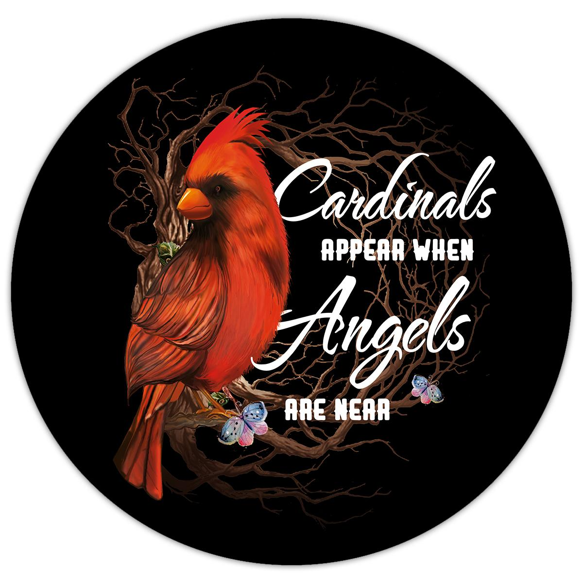 Cardinals Appear : Gift Sticker Angels Are Near Bird Ecology Nature Aviary