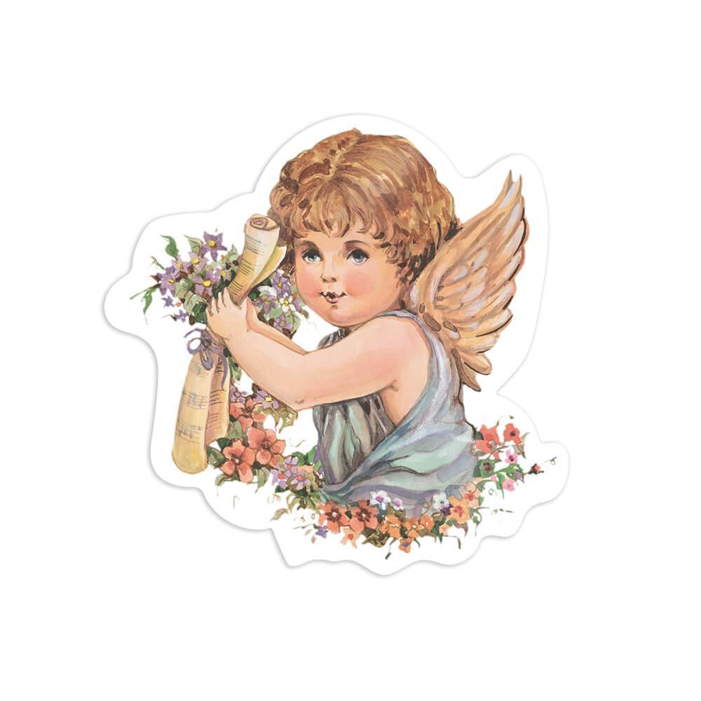 Victorian Angel : Gift Sticker Vintage Retro Religious Cute