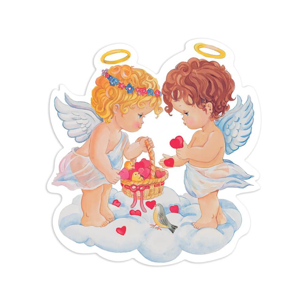 Angel Cupid : Gift Sticker Vintage Retro Religious Cute