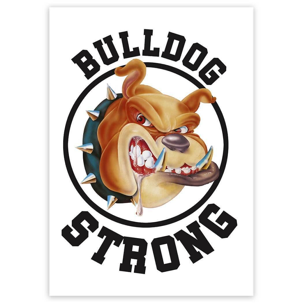 Mad Bulldog Strong : Gift Sticker Brave Attack Dog Pet Animal Nature