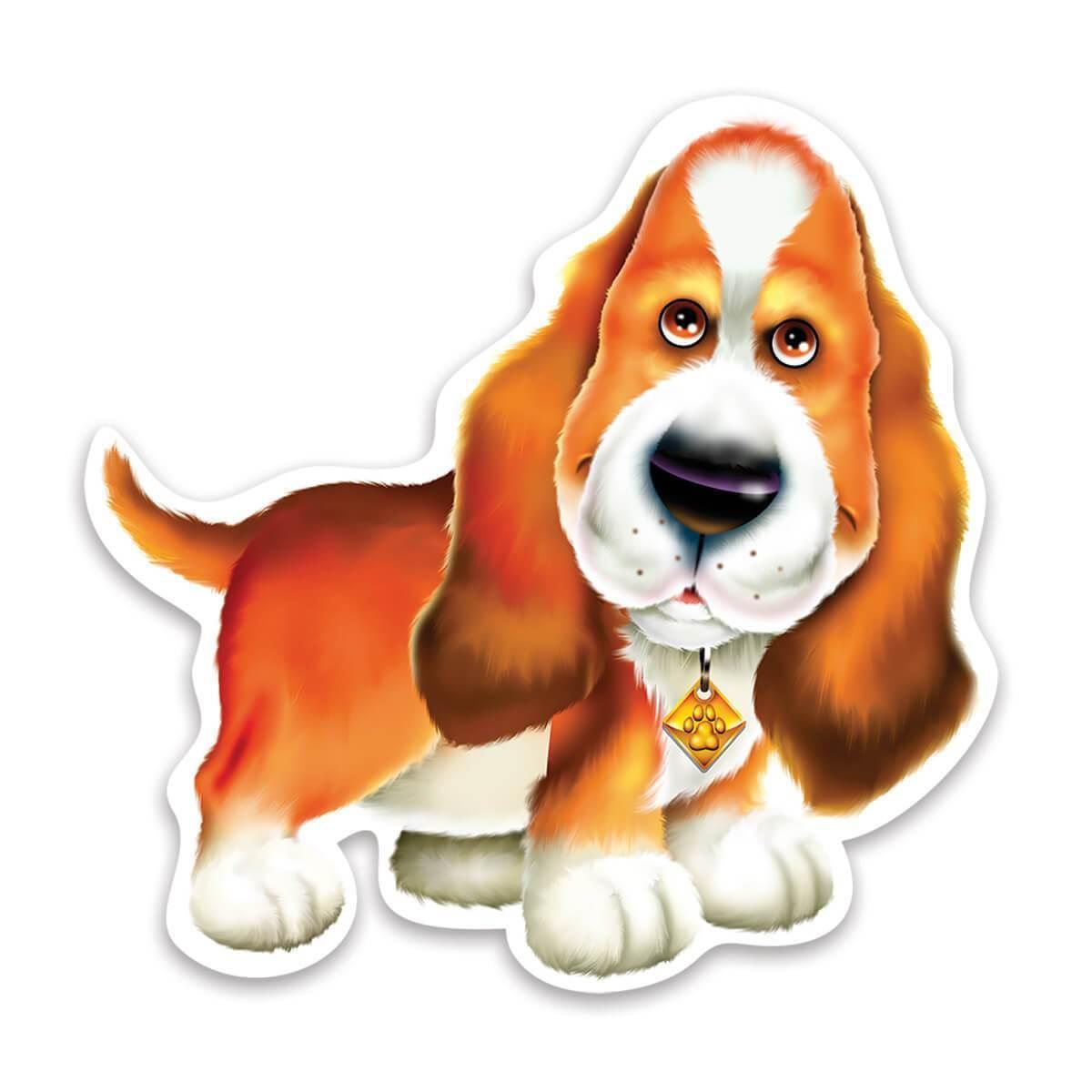 Basset Stars : Gift Sticker Cute Best Friend Airbrush Dog Hound