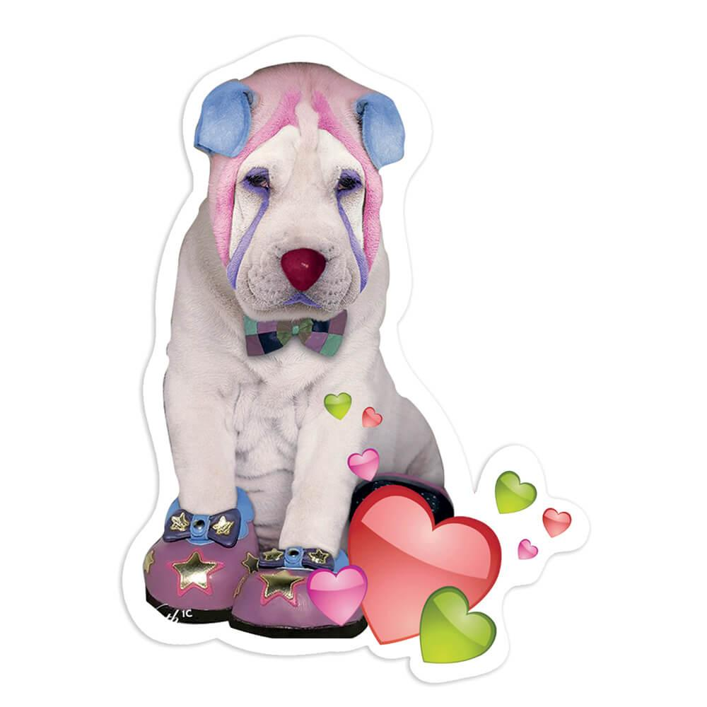 Sharpei Balloons : Gift Sticker Dog Party Pet Funny Cute Dogs