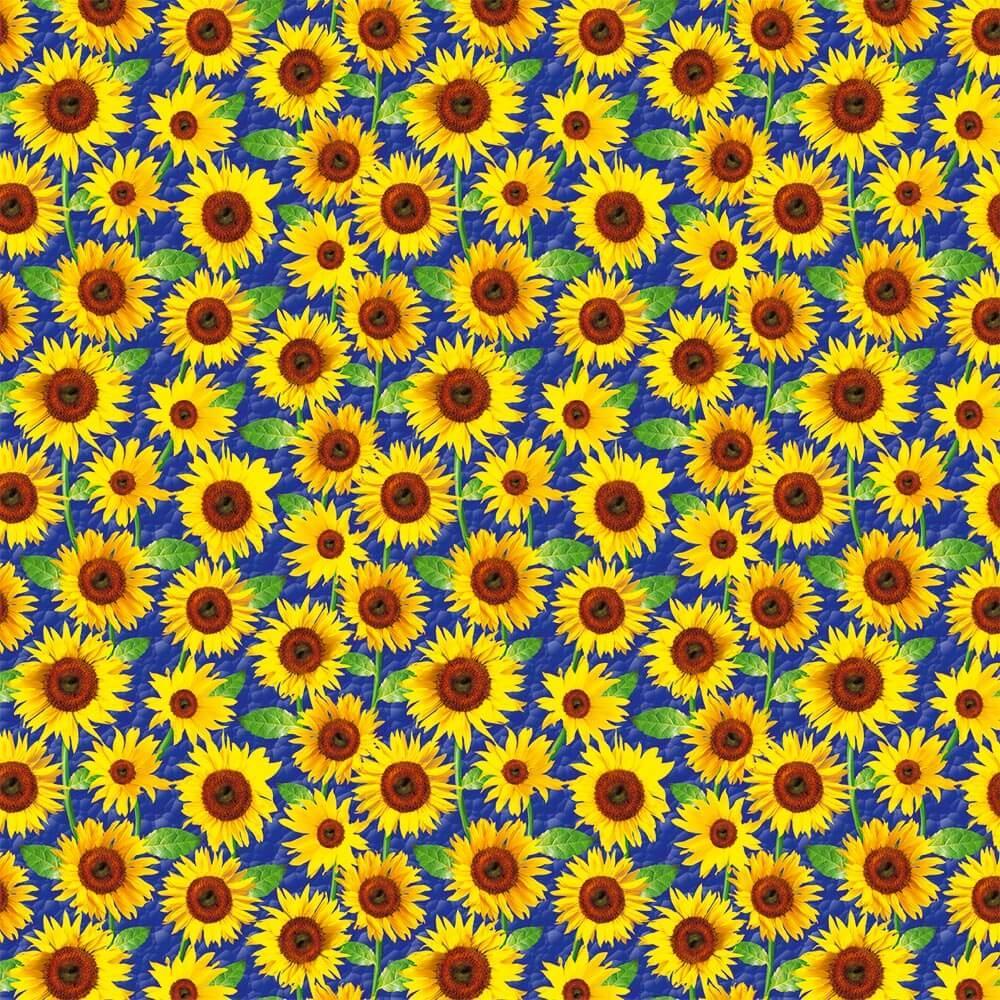 Golden Yellow Sunflowers : Gift 12″ X 12″ Decal Vinyl Sticker Sheet Pattern Seamless Pattern Rustic Garden Kitchen Decor
