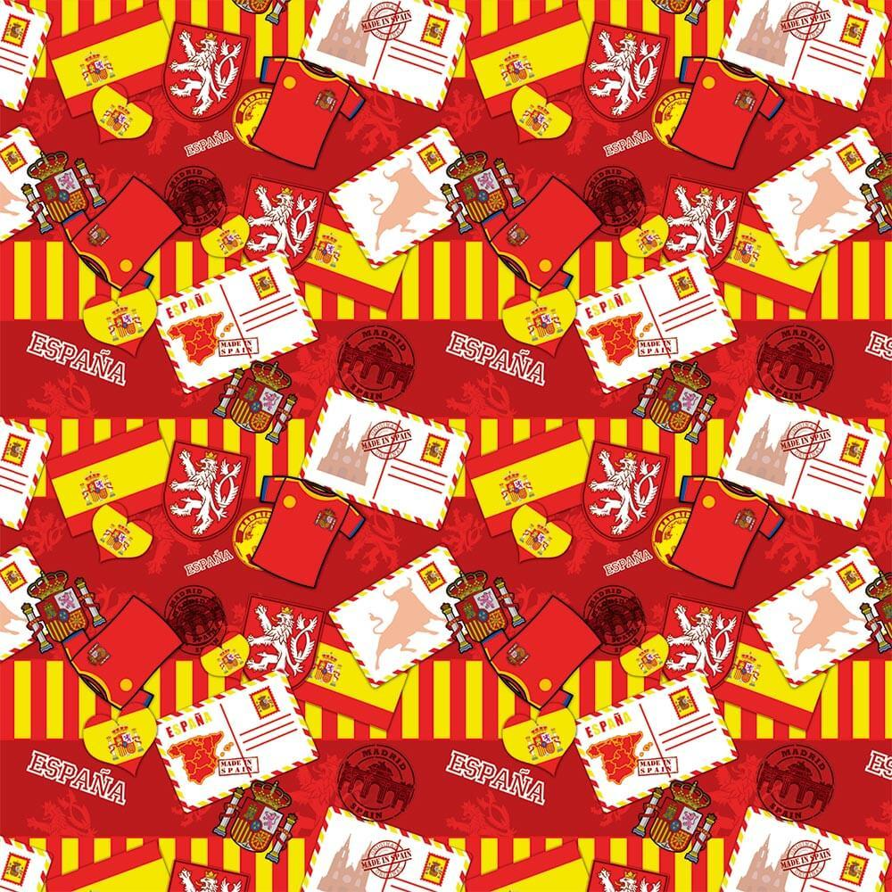 Spain Pattern : Gift 12″ X 12″ Decal Vinyl Sticker Sheet Pattern Journey Postcard Bull Flag Emblem Football Flag Diy Map Europe