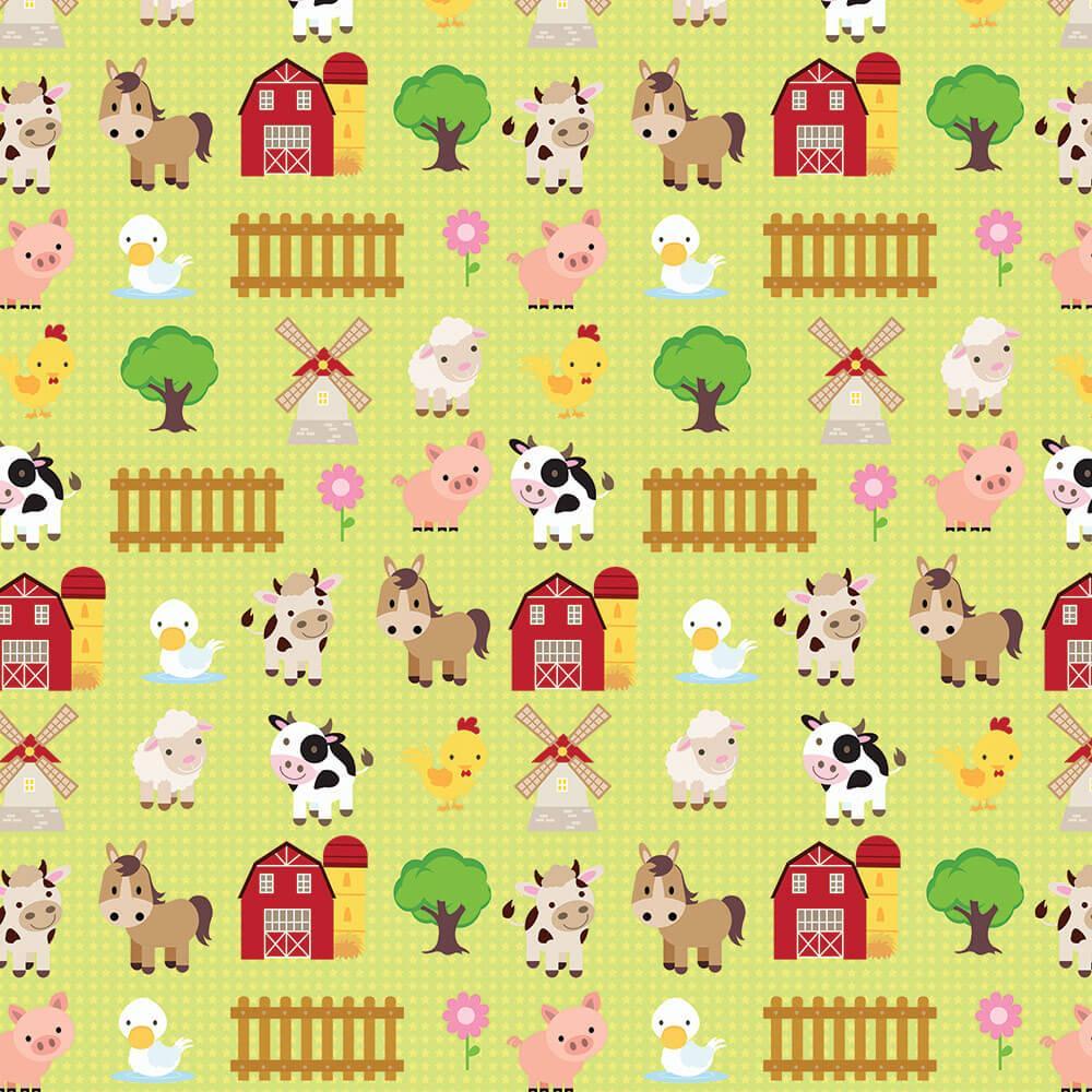 Tiny Farm Animals : Gift 12″ X 12″ Decal Vinyl Sticker Sheet Pattern Pattern Cute Horse Cow Sheep Baby Shower Nursery Chick