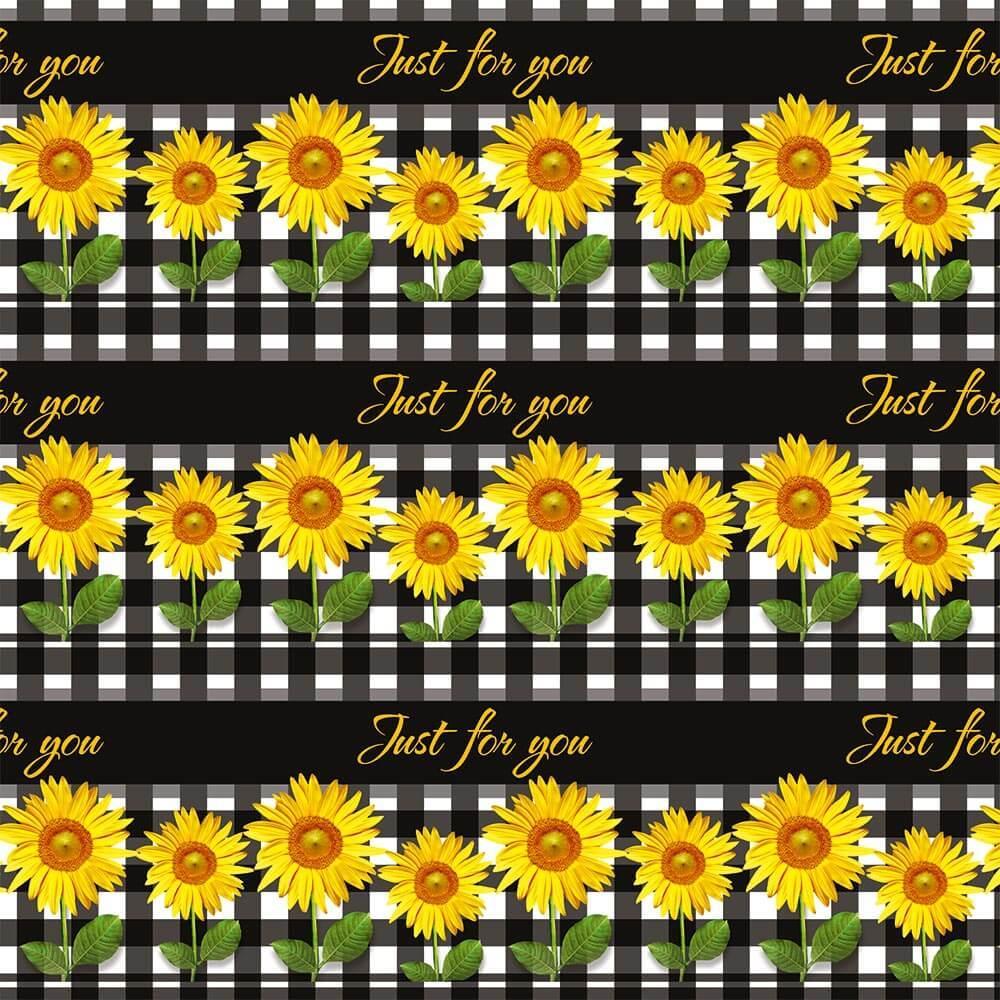 Sunflower Fence : Gift 12″ X 12″ Decal Vinyl Sticker Sheet Pattern Checkered Cloth Pattern Kitchen Garden Decor Coworker Friend
