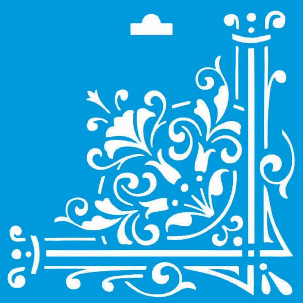 Border 4x4in : Diy Reusable Laser Cut Stencils 10x10cm Frame Ornament Wall Wood