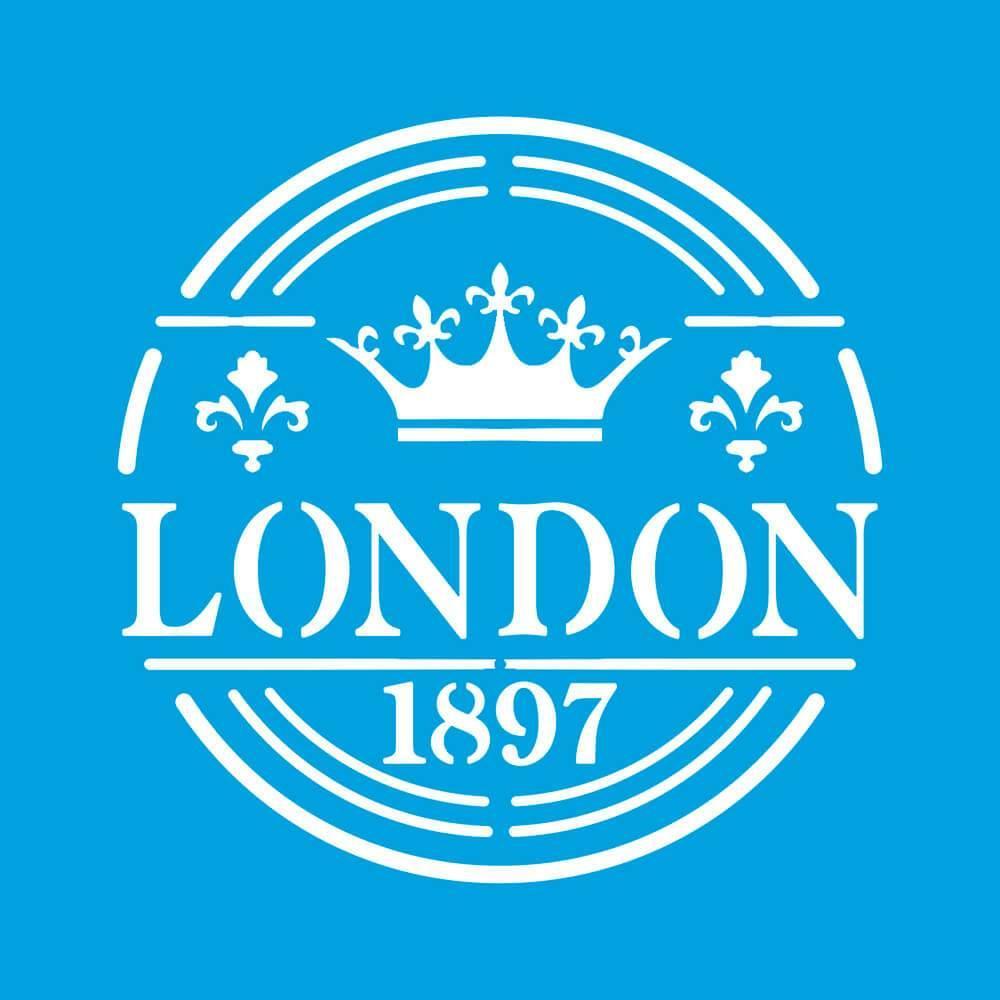 London 4x4in : Diy Reusable Laser Cut Stencils 10x10cm Calligraphy Font Template