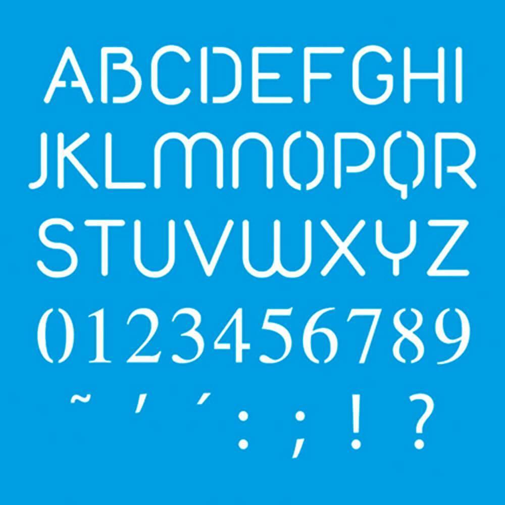 Alphabet 4x4in : Diy Reusable Laser Cut Stencils 10x10cm Letters Calligraphy