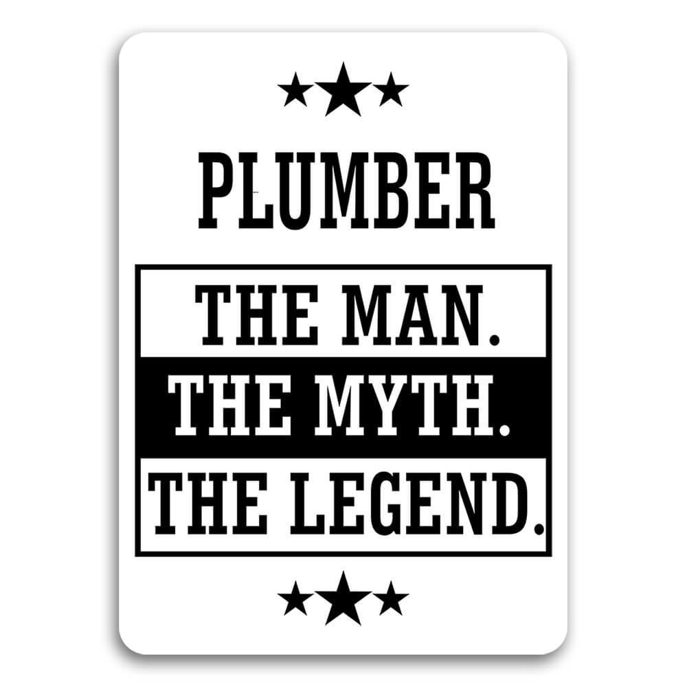 PLUMBER : Gift Sticker The Man Myth Legend Office Work Christmas