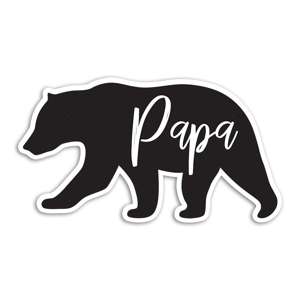 Papa Bear : Gift Sticker Fathers Day Christmas Birthday Grandfather Father Dad